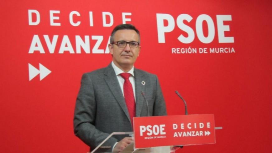 Diego Conesa, en la sede del PSOE