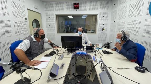De izquierda a derecha, Juan Pedro Sánchez, Joaquín Azparren y Juan Guillamón. ASR