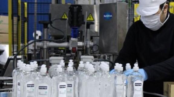 Proceso de fabricación de gel hidroalcohólico (archivo)