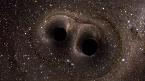 Agujeros negros según una recreación de la NASA