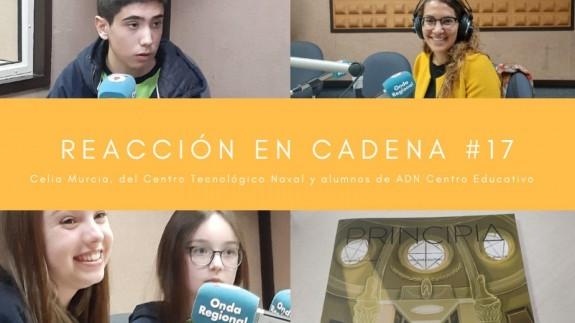 Alumnos de ADN Centro Educativo, Celia Murcia (técnico del Centro Tecnológico Naval) y la revista Principia