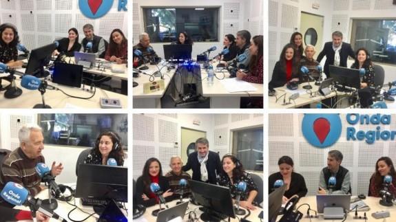 Diferentes momentos de la tertulia con Esperanza Moreno, Antonio Conchillo, José Blas García y Marifé López
