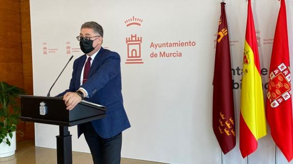 El concejal de Urbanismo y Transición Ecológica, Andrés Guerrero, en la presentación del proyecto