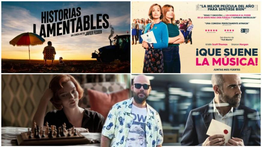 Alberto Frutos y carteles de películas y series