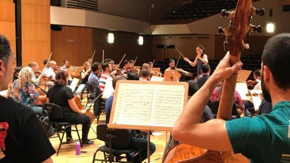Ensayo de la Orquesta Sinfónica.