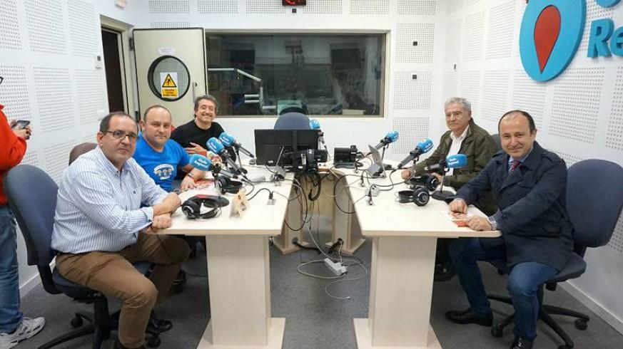 Francisco Saura, Cayetano Gómez, Juan Antonio García, Enrique Nieto y Javier Adán