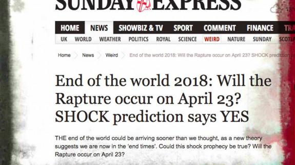 Noticia sobre el fin del mundo