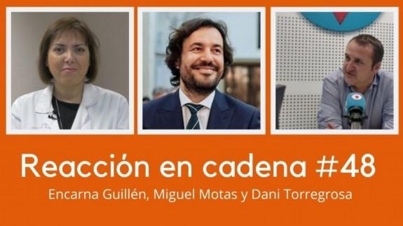 Encarna Guillén, Miguel Motas y Daniel Torregrosa
