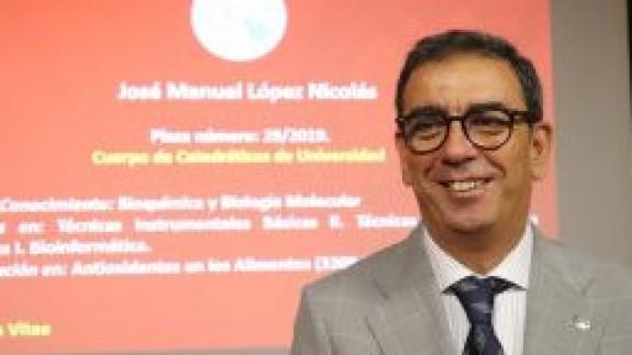 José Manuel López Nicolas, vicerrector de Transferencia y Divulgación Científica de la Universidad de Murcia