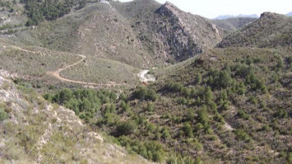 Imagen de uno de los rincones de nuestra ruta de hoy en Mazarrón