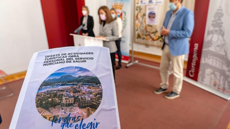 Presentación de los paquetes turísticos para el personal del SMS. AYTO. CARTAGENA