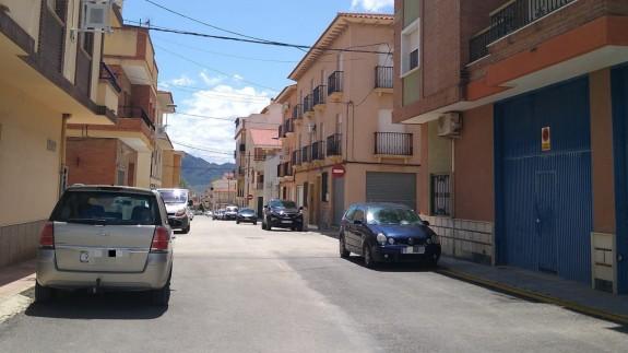 Calle de Jumilla donde ocurrieron los hechos en la madrugada del viernes al sábado.