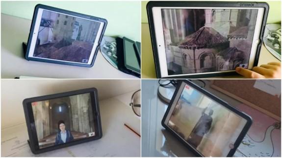 Distintas imágenes de la visita guiada
