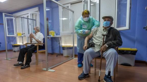 Vacunación en una residencia de mayores