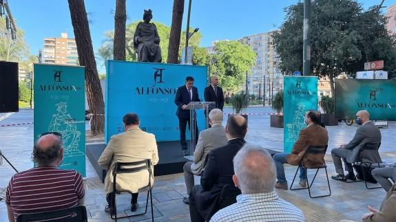 Presentación de los actos conmemorativos en la Avenida Alfonso X El Sabio de Murcia