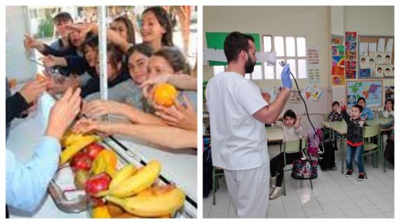 PLAZA PÚBLICA. Colegio de enfermería. Enseñar hábitos saludables a los escolares