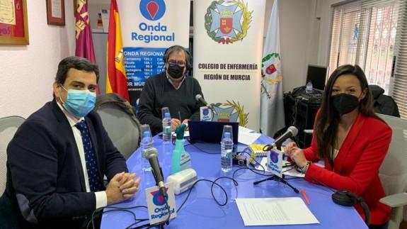 Díez de Revenga junto a Adolfo Fernández y Carmen Mª Conesa