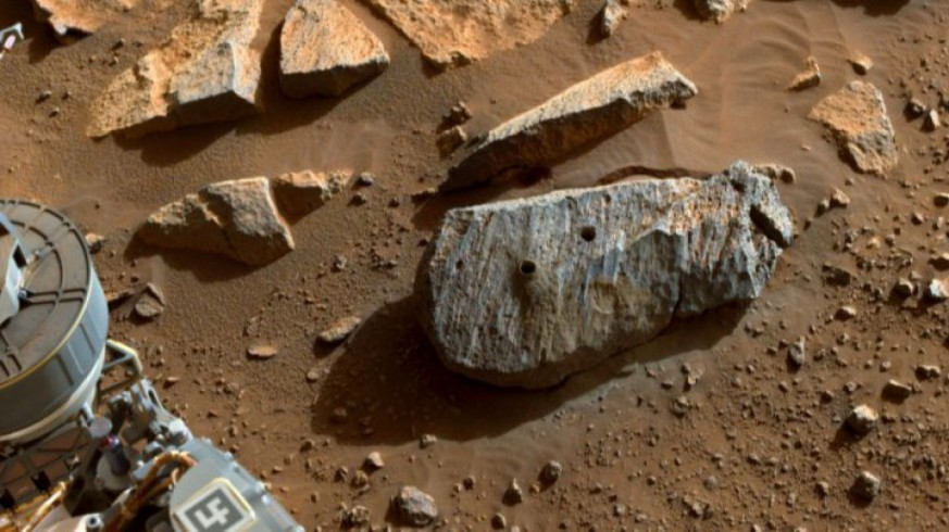 Rocas perforadas. NASA