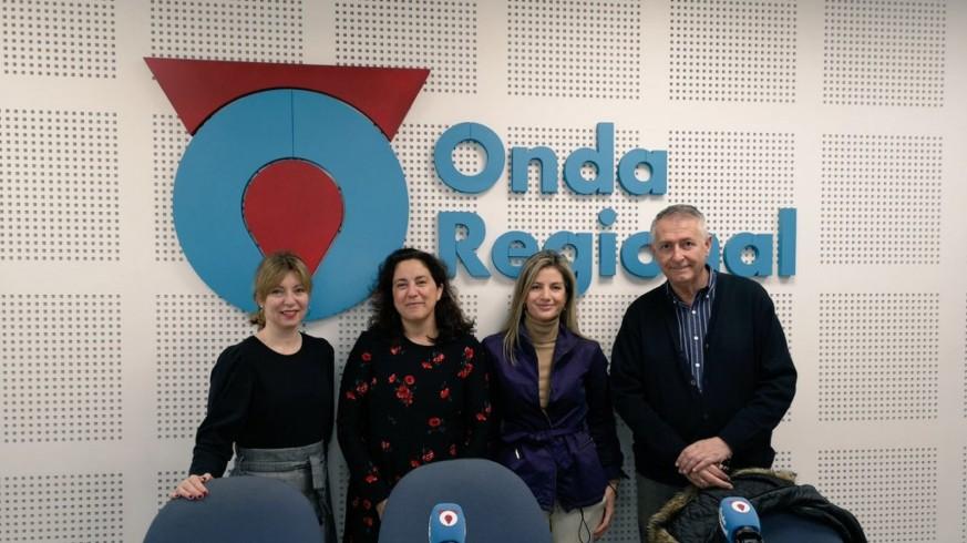 Concha Alcántara, Marta Ferrero, Nieves Iniesta y Miguel Massotti en Onda Regional