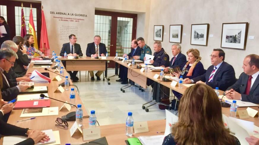 Reunión de la Junta de Seguridad de Murcia.
