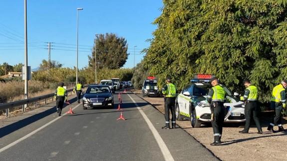 Control de tráfico de la Guardia Civil en la Región. ORM