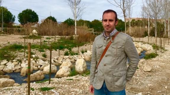Eduardo Lafuente durante la presentación del proyecto