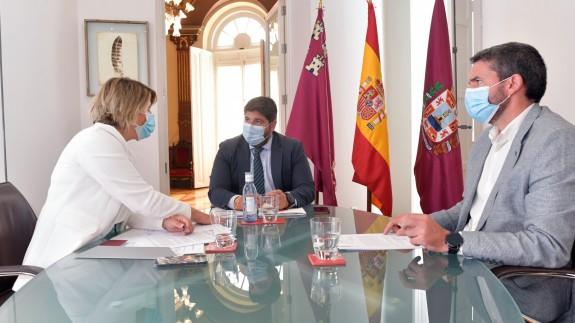 López Miras junto al consejero Luengo y la alcaldesa de Cartagena Noelia Arroyo