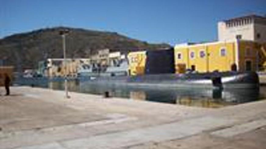 Imagen de la base de submarinos en el Arsenal de Cartagena