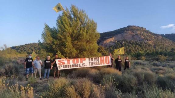 Imagen de Archivo de protesta en las inmediaciones del Monte Arabí por la instalación de la macrogranja