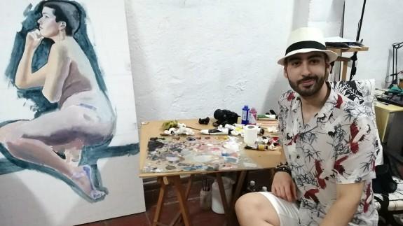 Eduardo Replinger en su estudio