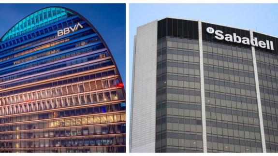 Edificios de BBVA y Sabadell