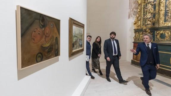 El presidente López Miras en su visita a la exposición