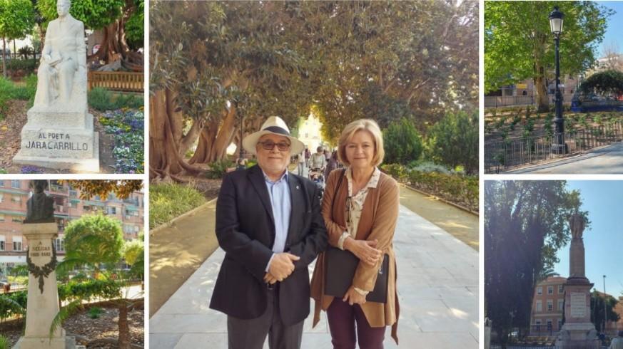 Santiago Delgado y Loreto López durante la visita guiada