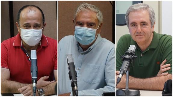 Javier Adán, Enrique Nieto y Manolo Segura