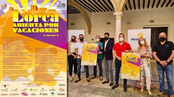 Cartel y presentación del programa 'Lorca abierta por vacaciones'