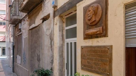 Fachada de la casa natal de Isaac Peral en Cartagena