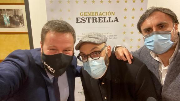 Yayo Delgado, Miguel Ángel Hernández y Leo Cano durante la presentación
