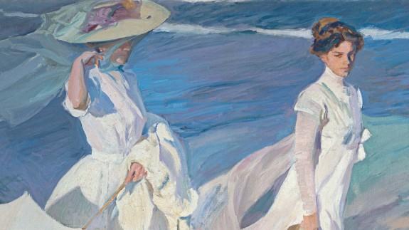 Detalle del cuadro 'Paseo a orillas del mar' de Joaquín Sorolla