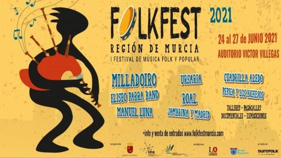 Cartel del I Folkfest Región de Murcia