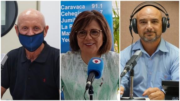 Domingo Coronado, Rosa Peñalver y Daniel Ruiz