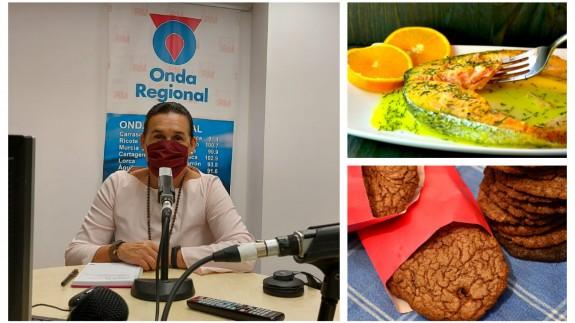 Belén Carrascosa, autora del bolg 'Mi caja de recetas', junto a una imagen de las dos propuestas de hoy
