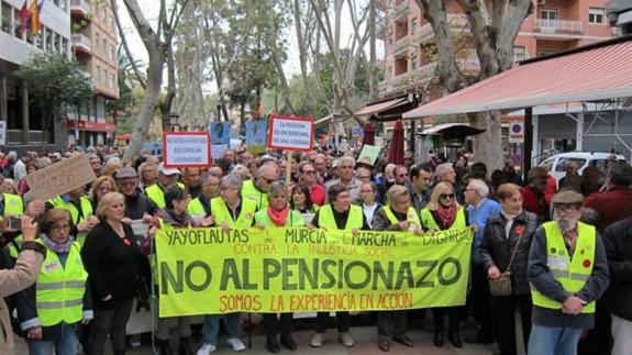 Imagen de archivo de una protesta de los yayoflautas