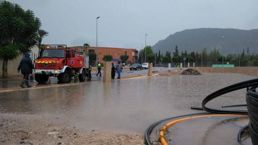 Lluvia caída hoy en Blanca. CONSEJERÍA DE PRESIDENCIA