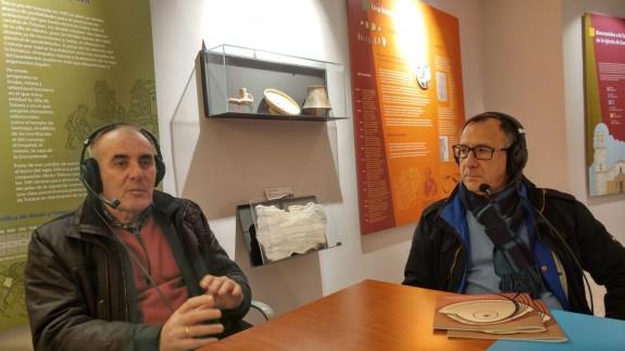 Francisco Guerao y Jose Antonio Andreo en la Torre de Santiago de Totana