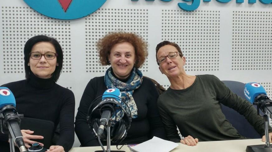 Antonia María Muñoz, Maria José Durán y Carmen Castillo en Onda Regional