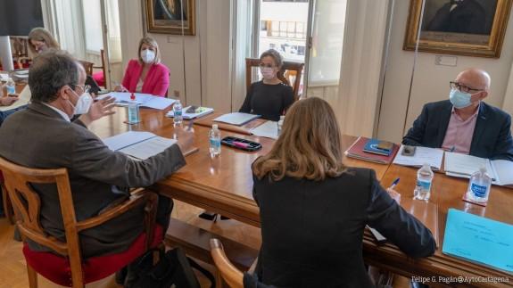 Reunión del Consejo de Administración de Lhicarsa. AYTO. CARTAGENA