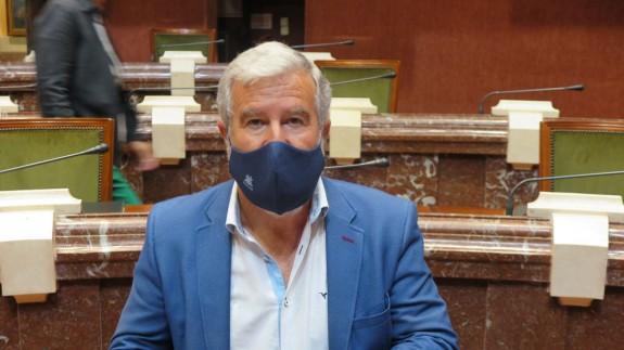 Santiago Martínez, en su comparecencia en la Asamblea