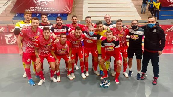 Los jugadores de ElPozo, tras la victoria en Peñíscola