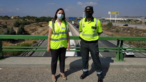 Virginia Jerez y José Ángel Jurado, durante la presentación de la Operación Especial