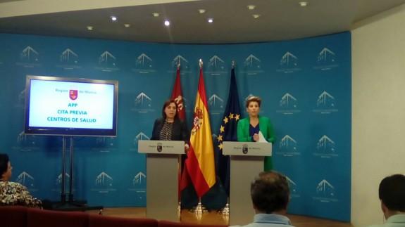 Arroyo junto a la consejera Guillén en rueda de prensa
